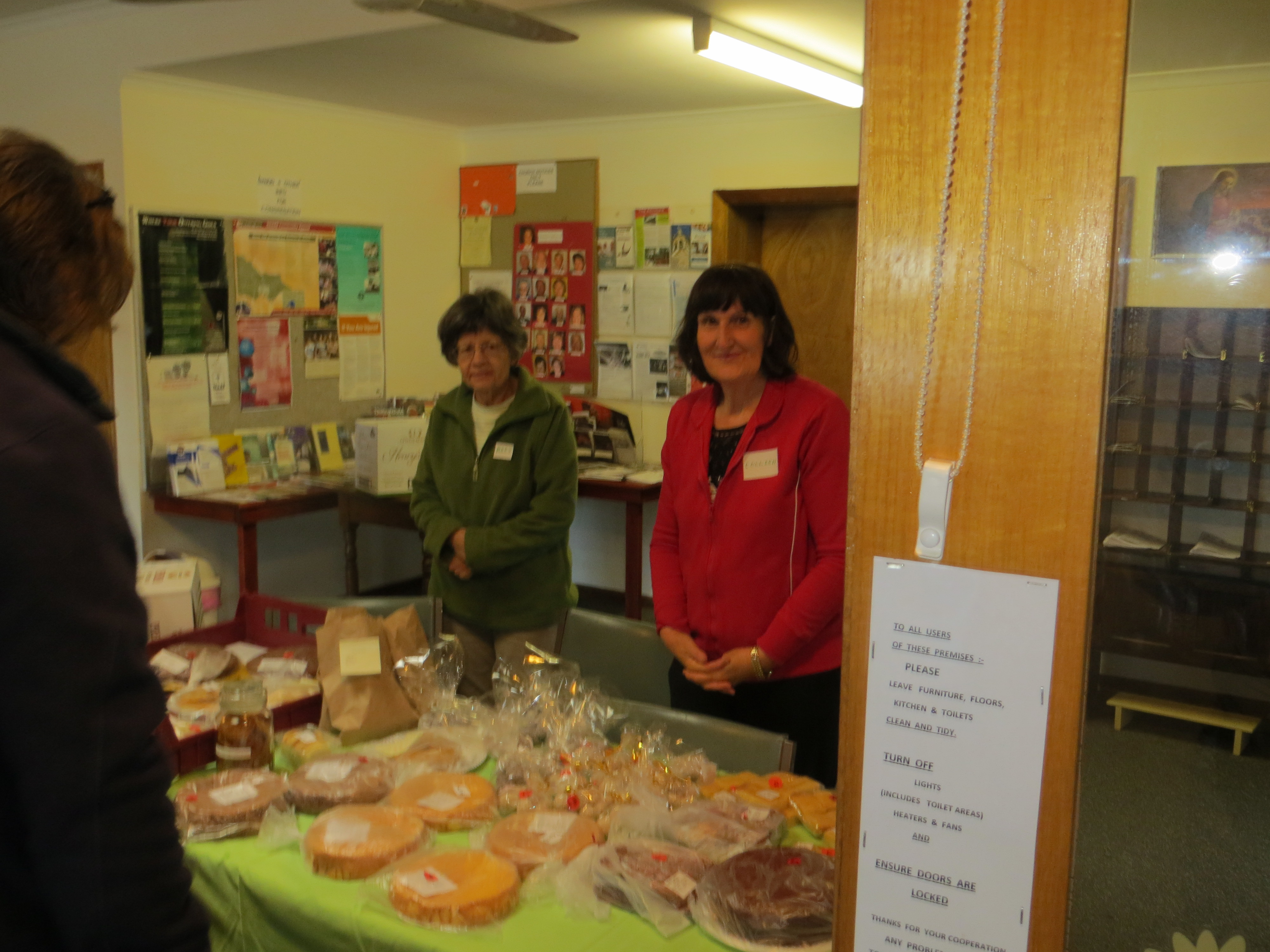 Cake stall - Mary & Colleen