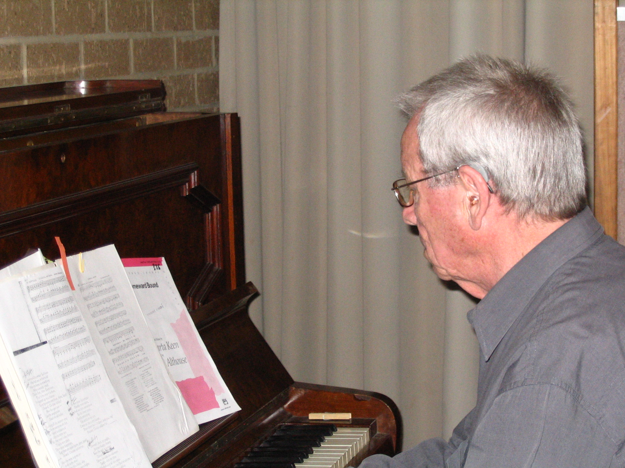 Roger on piano