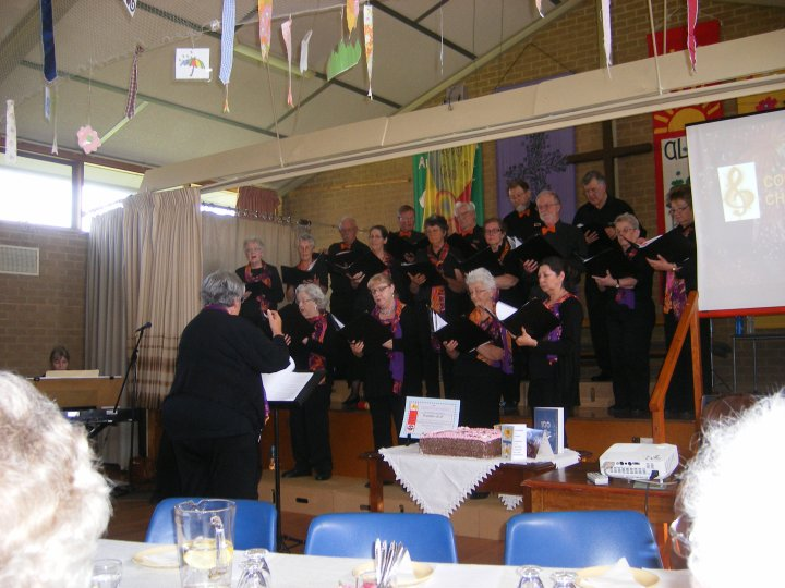 Coryule Choir performs