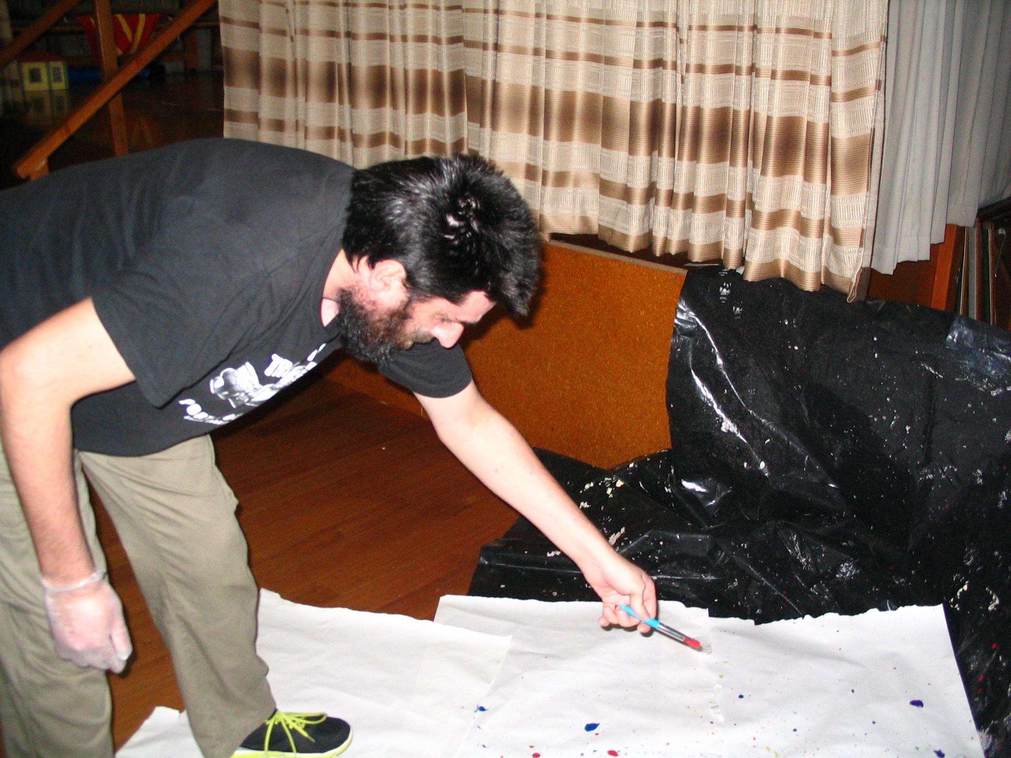 Darren at the paint flick